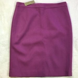 J. Crew No. 2 Pencil Skirt Purple NEW NWT Size 12